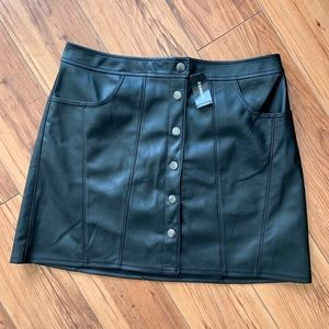 NWT! Express Black Faux Leather Skirt